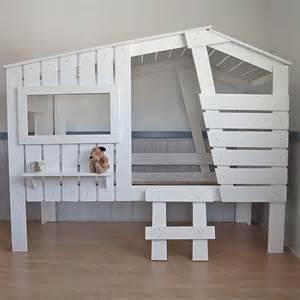 Ikea Dogs h 252 ttenbett spielbett strandhaus weiss massivholz