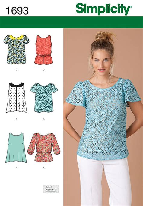 pinterest pattern sewing s1693 misses tops sewing 1 pinterest patterns