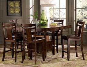 Counter Height Dining Room Table Sets Homelegance Broome Counter Height Dining Set Dark Brown