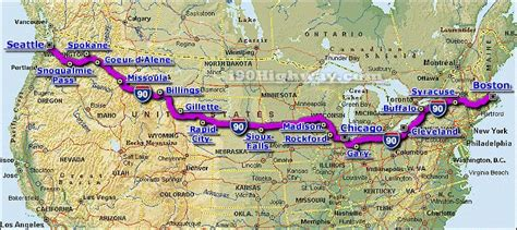 us highway map i 80 cross country road trip interstate 90 highway