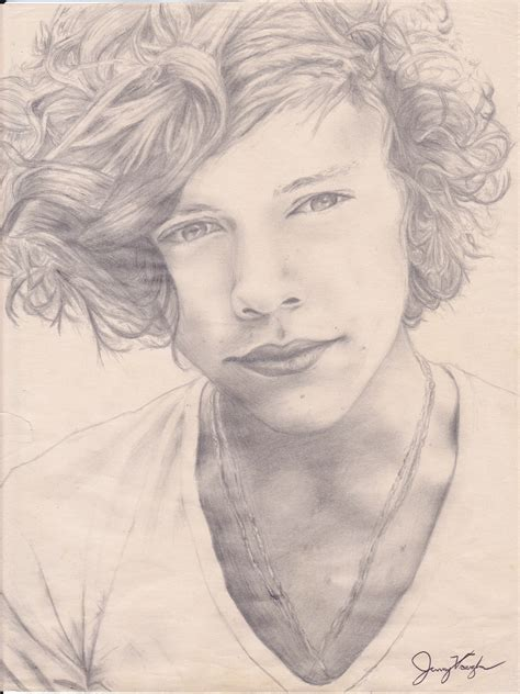 pencil drawing of hair styles of men harry styles by jvaughn789 on deviantart