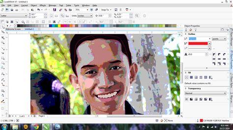 cara membuat foto menjadi kartun corel draw x7 cara membuat foto menjadi kartun dengan coreldraw x4 x5 x6