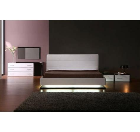 platform bed with lights modern home and office furniture store infinity
