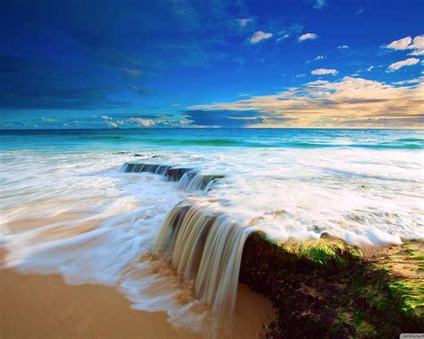 sea wave waterfall wallpaper  wallpaperscom