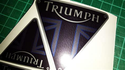 triumph boat decals triumph tank decals x4 leather blue stitch style tiger