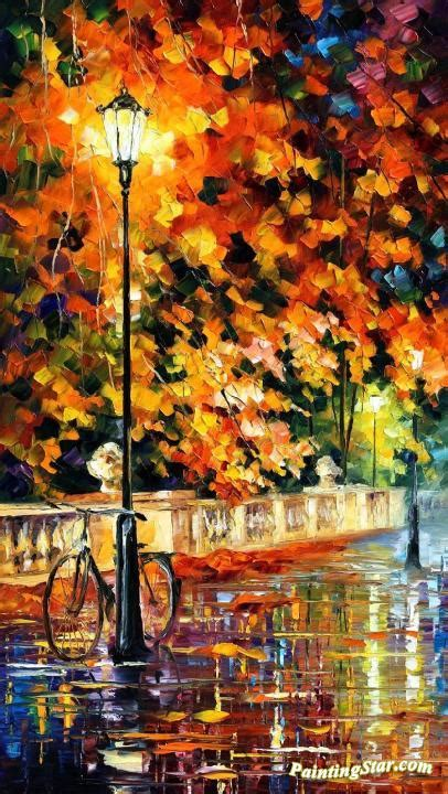 lonely bicycle artwork  leonid afremov oil painting