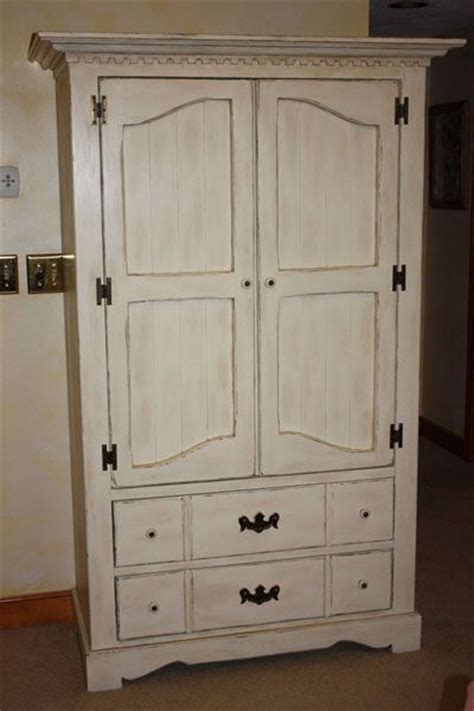 white chalk paint armoire chalk painted antiqued distressed armoire using annie
