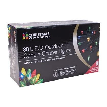 outdoor chaser lights 80led colour outdoor candle chaser lights