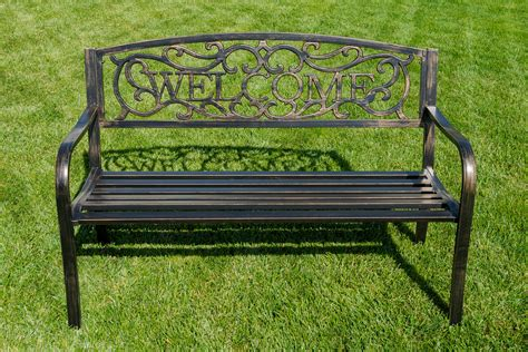 welcome bench new 50 quot inch outdoor garden bench patio furniture welcome