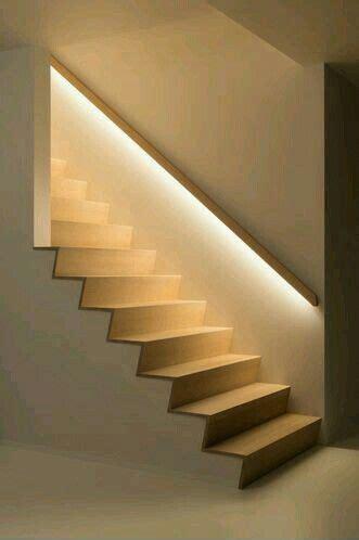 beleuchtung stiege handlauf beleuchtet diele flur treppe