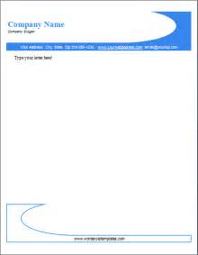 word letterhead template ms word company letterhead templates document templates