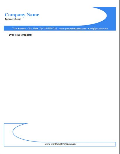 Letterhead Templates Word ms word company letterhead templates document templates