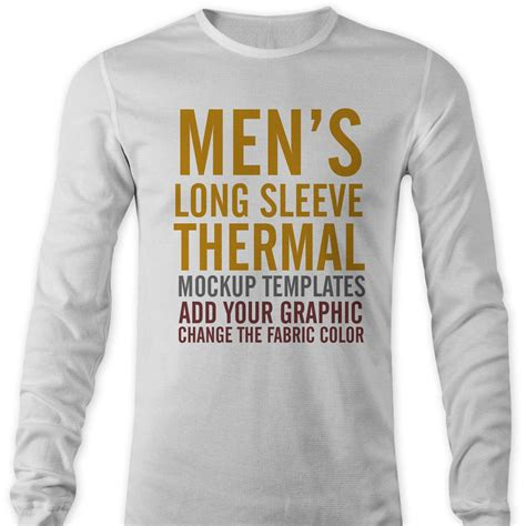 Men S Thermal Mockup Templates Thevectorlab Sleeve Shirt Template Psd