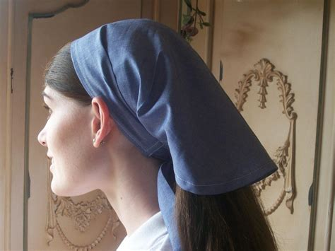 chambray headcovering hair veil scarf covering