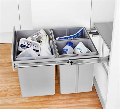 In Cupboard Bins by Wesco Trio Master 32l In Cupboard Recycling Bin