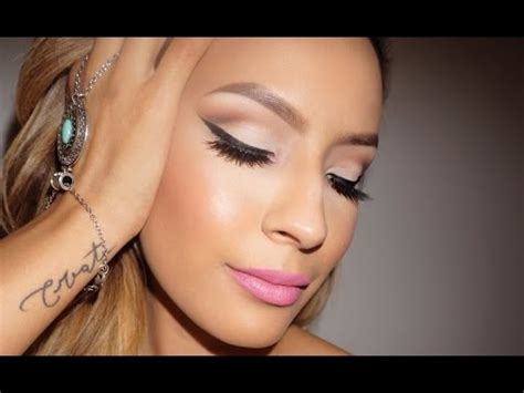 tutorial desi perkins classic eye pink lip youtube