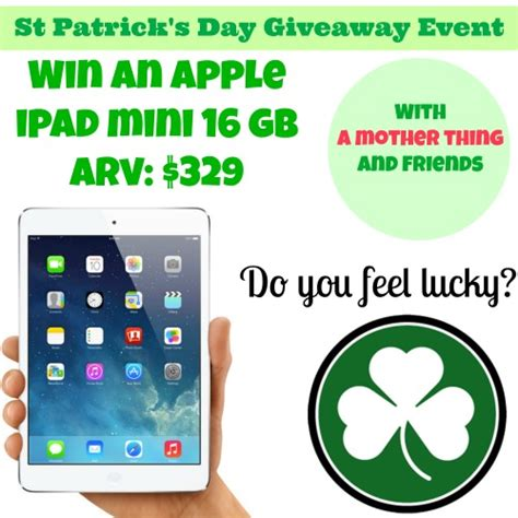 Ipad A Day Giveaway - st patrick s day ipad mini giveaway