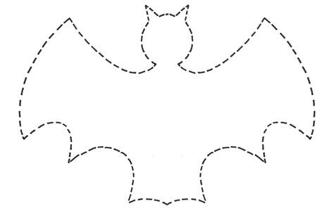 cut out template 6 best images of free printable bat template bat cut out