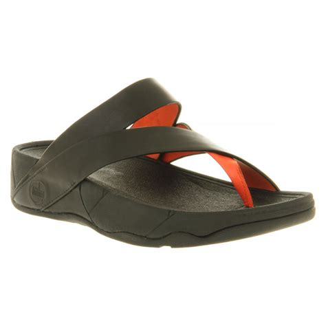 fitflop black sandals fitflop sling black leather sandal fitflop from crichton