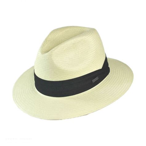 Hats To You by Jaxon Hats Toyo Straw Safari Fedora Hat Black Band All