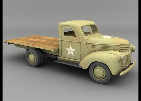 chevrolet army truck lightwave 1941 chevy army truck