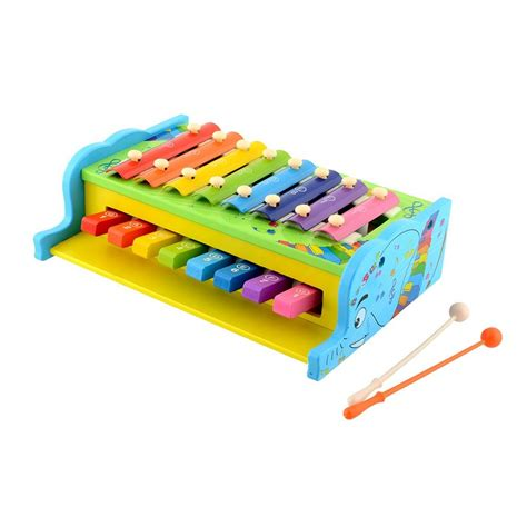 New 2 In 1 Xylophone Piano Mainan Alat Musik Anak buy multicolor wooden xylophone for with 8 musical notes at best price in india on