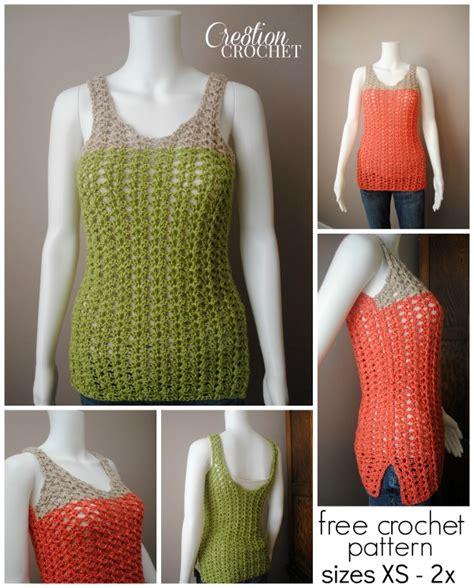 pattern crochet tank top breezy shell tank cre8tion crochet