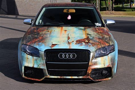 Autofolie Used Look by Audi A4 Lowered Wrapped By Signmania Car Wrap Design