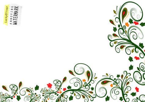 side designs vector floral border design trendy vector floral border