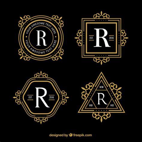 free luxury logo design geometric luxury logos vector free download