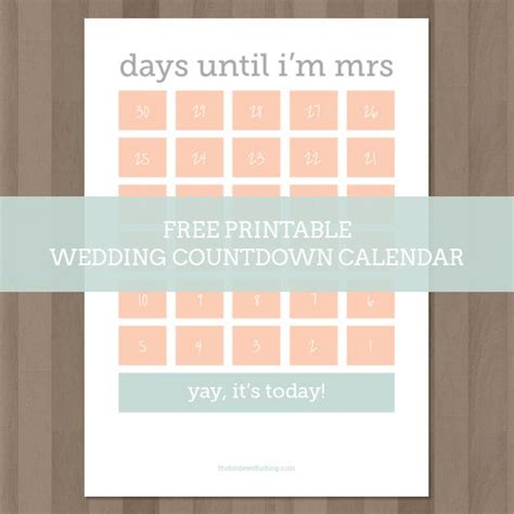 printable countdown calendar template wedding countdown calendar new calendar template site
