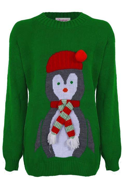 knitting pattern minion jumper ladies knitted christmas reindeer snow santa olaf minion