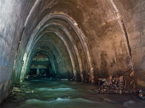 ship underground abandoned underground docks in japan made for military