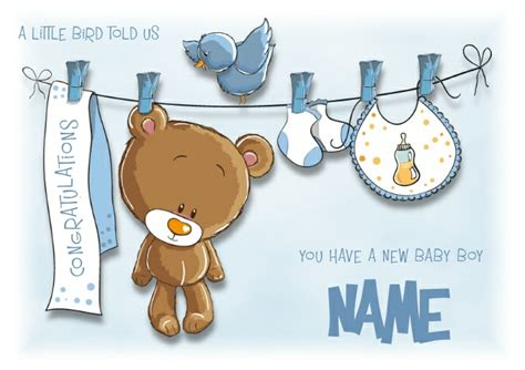 Gift Card Messages For New Baby Boy - baby boy greeting card