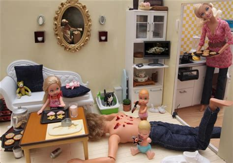 design doll serial photos of barbie dolls doing very bad things by mariel clayton