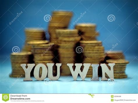 Win Travel Money - you win money stock photo image 50390496