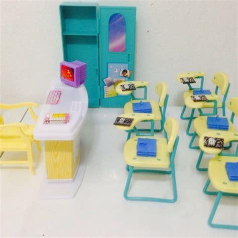 barbie doll house furniture sets barbie size dollhouse furniture classroom play set barbie collectibles