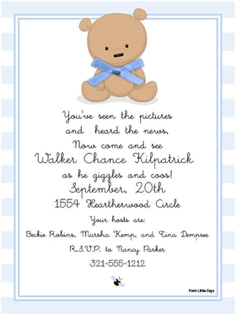 Teddy Baby Shower Invitations Wording by Babies Children Baby Shower Invitations Teddy Boy