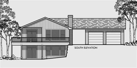 daylight basement house plans floor plans  sloping lots