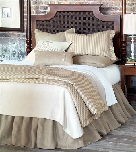 burlap comforter luxury bedding by eastern accents rustique burlap collection