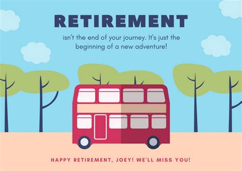 Happy Retirement Cards Templates by Retirement Card Templates Canva