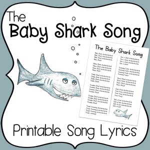 baby shark jazz baby shark song for kids lyrics archives kindergarten nation