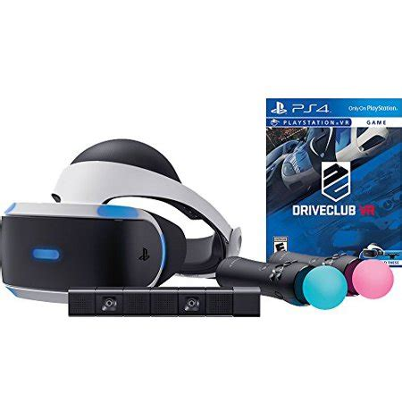 sony playstation vr driveclub starter bundle 4 items:vr