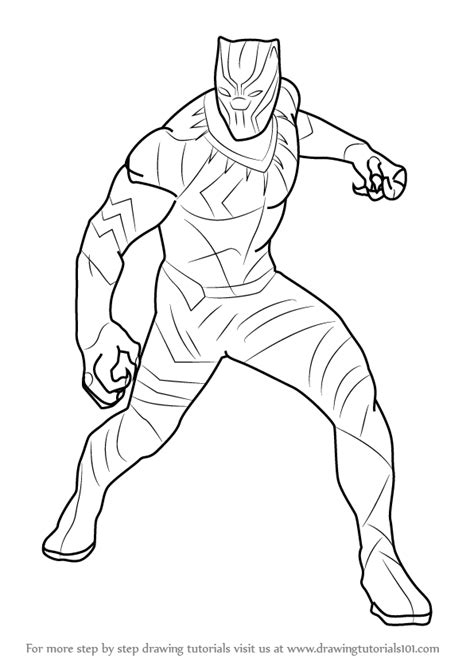 coloring black panther civil war coloring pages