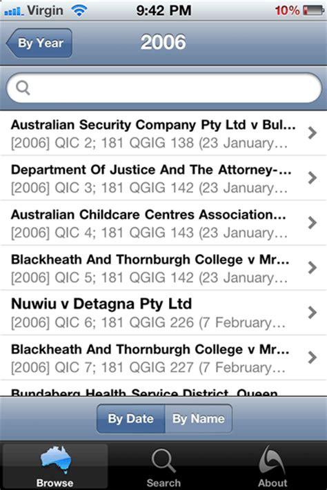 Austlii Search Austlii S Iphone App