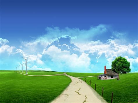 Pleasant Beach Village by Nature Summer Wallpapers Wallpapers Stocks