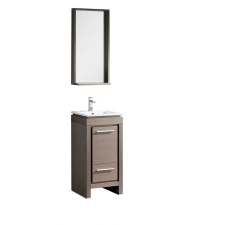 16 5 Inch Single Sink Bathroom Vanity In Gray Oak With 16 Inch Bathroom Vanity