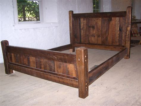 Rustic Bed by Country Cabin Rustic Bed Frame With Beveled Posts