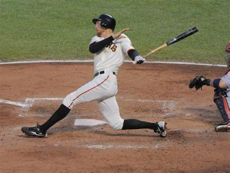 hunter pence swing bat hitting baseball