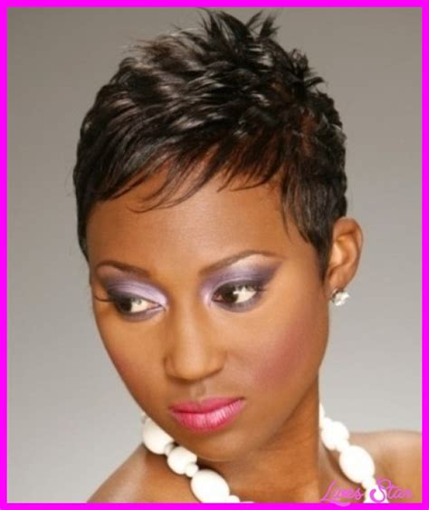 pictures short african american hairstyles short haircuts for round faces black livesstar com